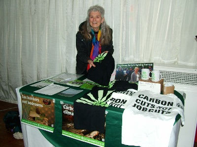 Green Party stand at Resilient Energy report launch